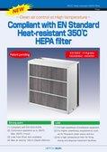 EN Standard Heat-resistant 350℃ HEPA filter
